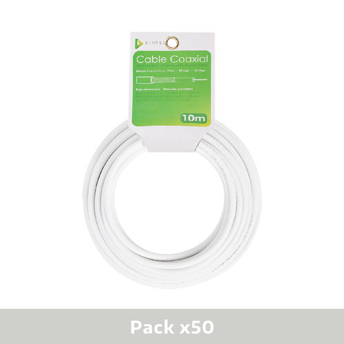 Pack 50x Bobinas Cable Coaxial 10m Dintel